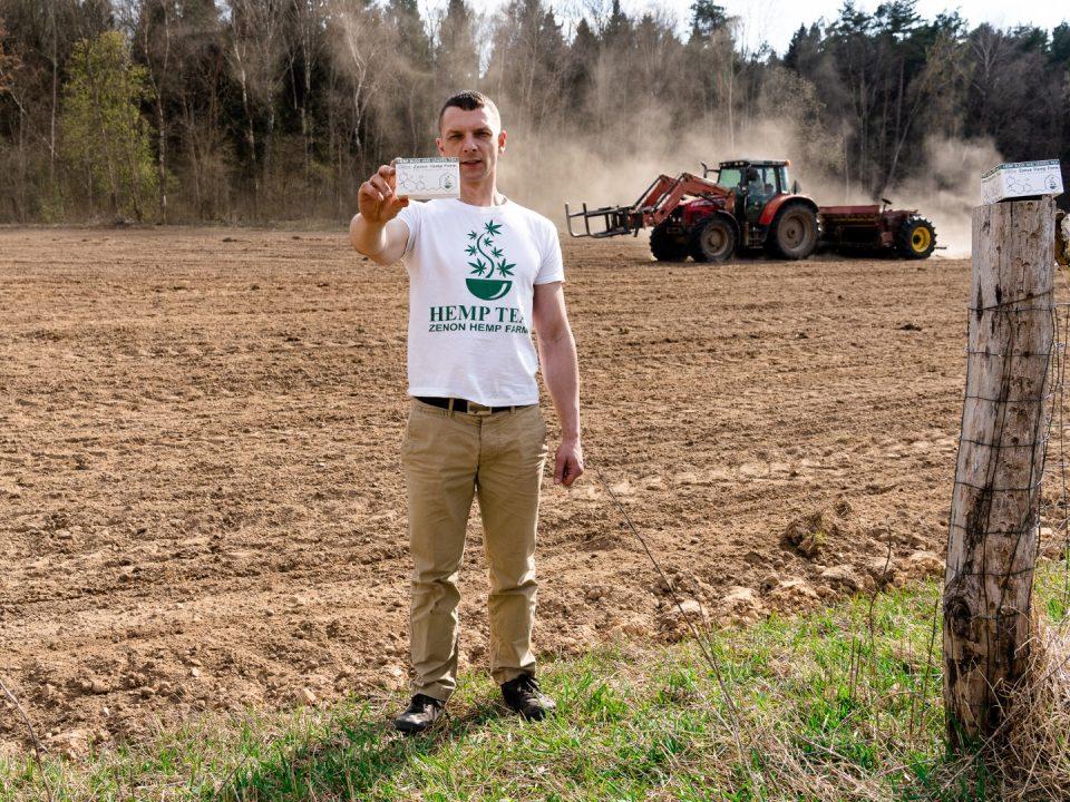 Zenon Hemp Farm seeding day